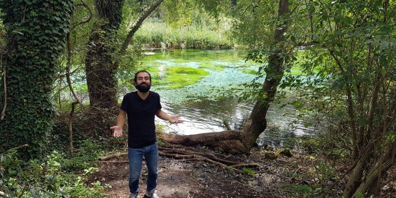 Dario Zanotti alle Sorgenti del Pescara